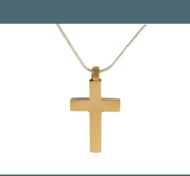 Gold Holy Cross Pendant - Lockets & Keepsakes - Pets in Peace